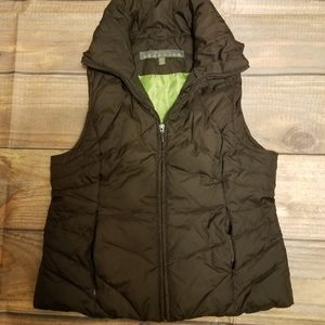 Kenneth Cole brown down feather filled puffer vest